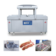 Double chamber type vacuum packaging machine for sea food/salted meat/dry fish/pork/beef/rice