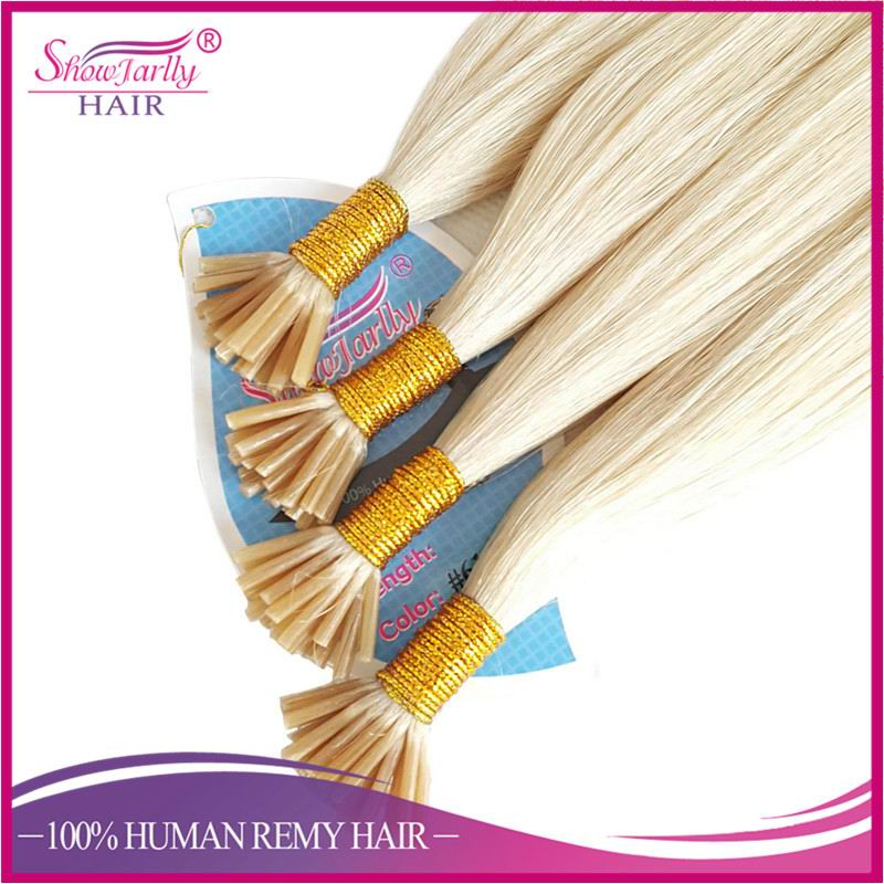 top quality stick I-tip bond Italian keratin slavic russian hair extension color 613