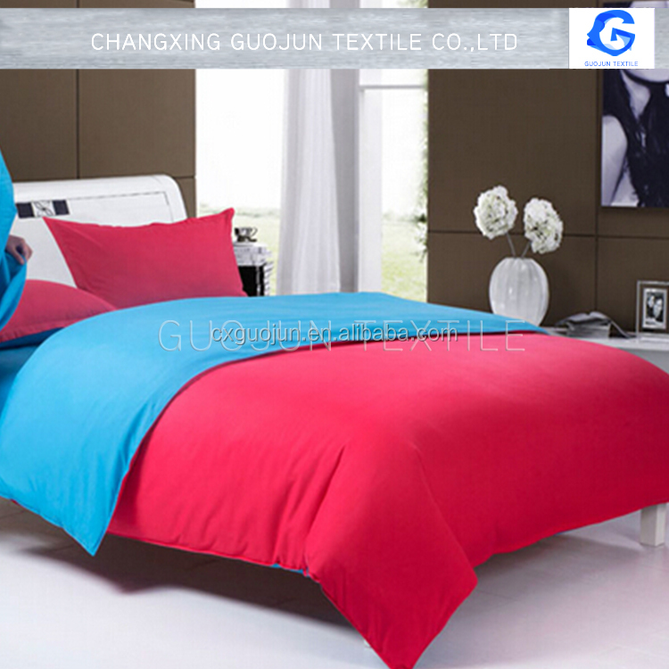 Bright Colored Plain Dyed polyster microfiber BEDSHEET FABRIC form huzhou