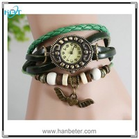Most popular simple new style ladies leather retro wrap vintage watch necklace