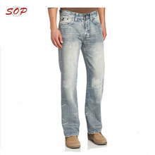 Straight baggy overall men jeans surplus stock for sale