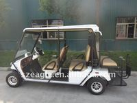 4 seats EEC Approved electric utility vehicle EG2048HSZR-01 on road street legal homologation golf car 48V 5KW AC sepex system