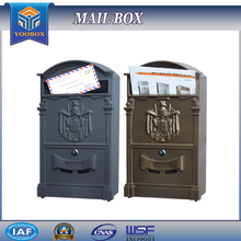 2016 Best Seller European Style Aluminum Wall Mount Mailboxes For Sale