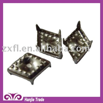 Silver Diamond Decorative Nailhead Prong Stud for Shoes