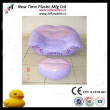 High quality lip shape pvc sofa chair