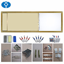 Sliding magnetic writing board of office or school supplies