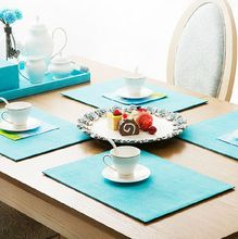 Good quality tea cup coaster leather coaster faux leather placemats and coasters