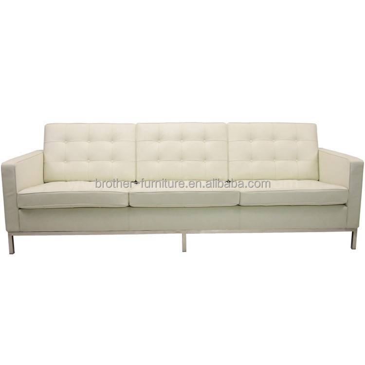 Best Quality hot sale Flourounce knoll three seats sofa leather sofa Shenzhen