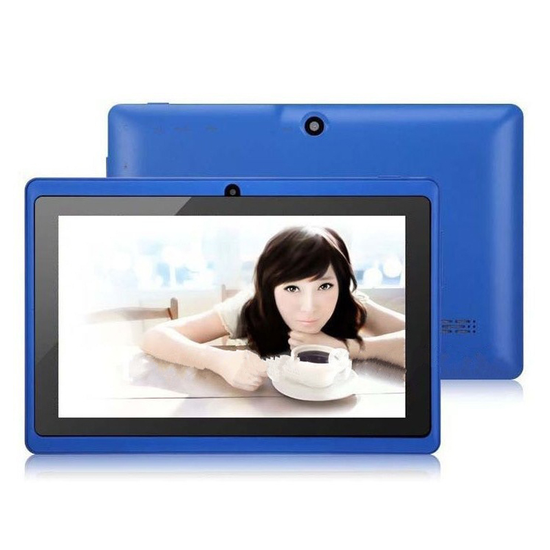2016 Hot New 7'' Inch A33 Quad Core Google Android 4.4 Tablet Pc Mid with camera, 800*480 Capacitive Multi-touch Screen-blue