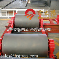Material handling equipment rubber pulley lagging