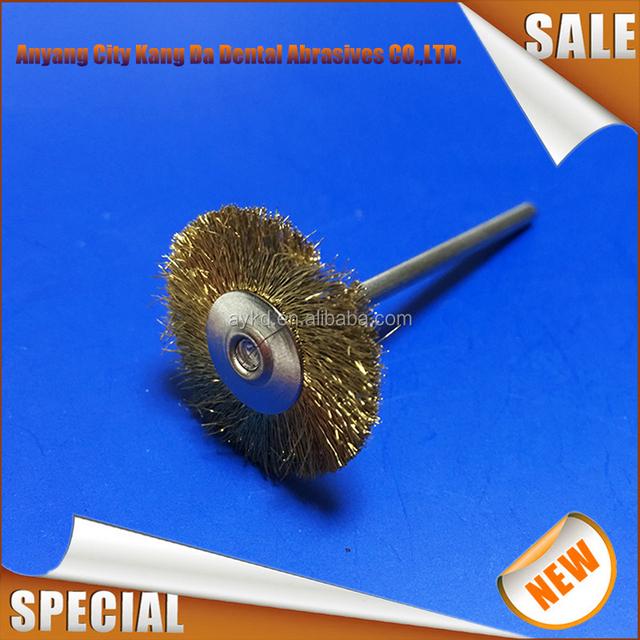 Dental Latch style flat prophy wheel brush