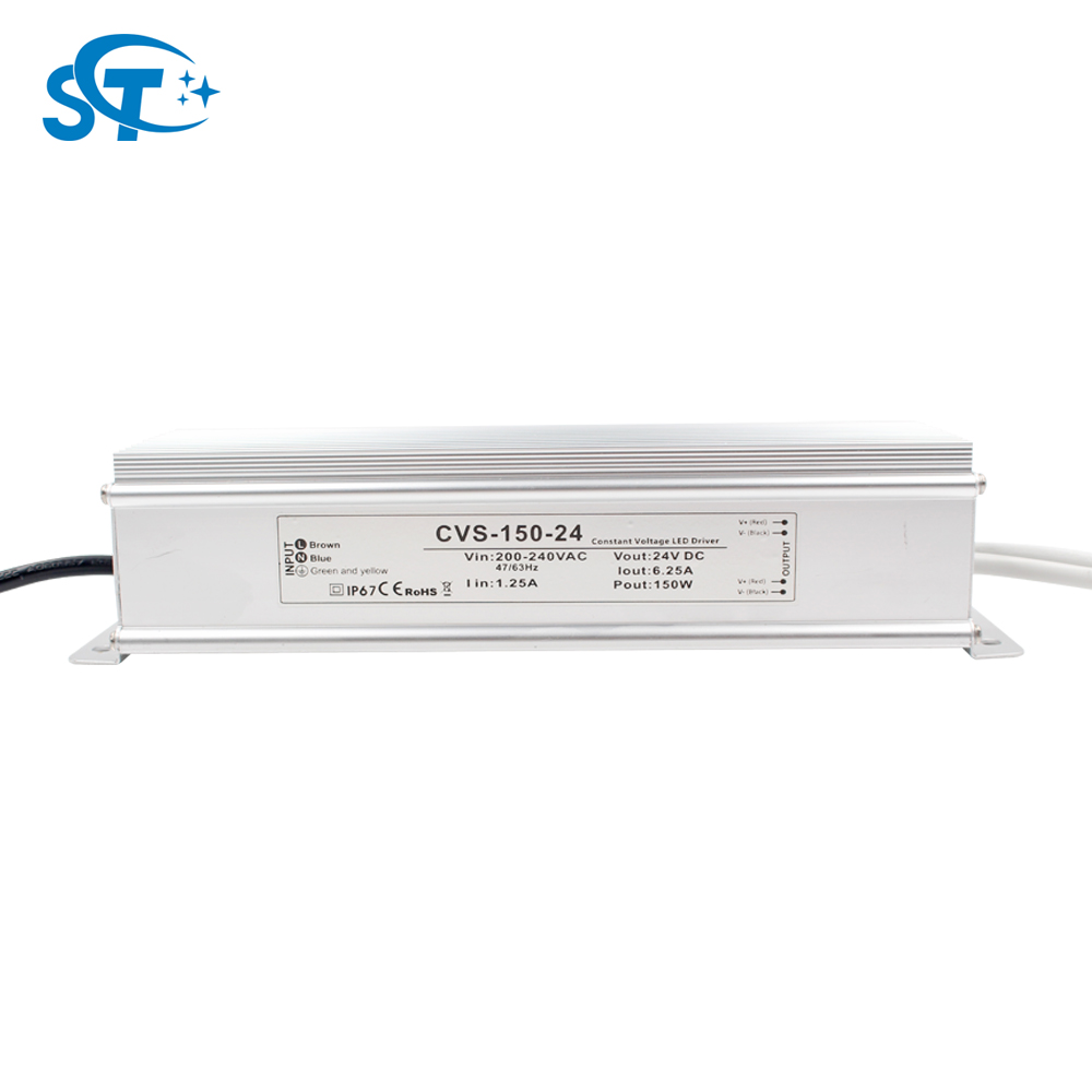 OEM/ODM Constant Voltage Rainproof Input AC 220 v 230 v Output DC 24 v Rated Power 150 w Led Driver with CE ROHS Certificate