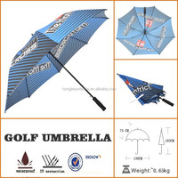 hot selling high wind motorized straight golf umbrellas with customized logo