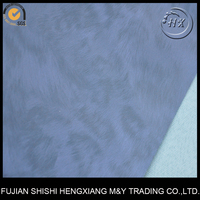 Leading Leather 2 Tone Wet Process PU Synthetic Leather Fox Leather