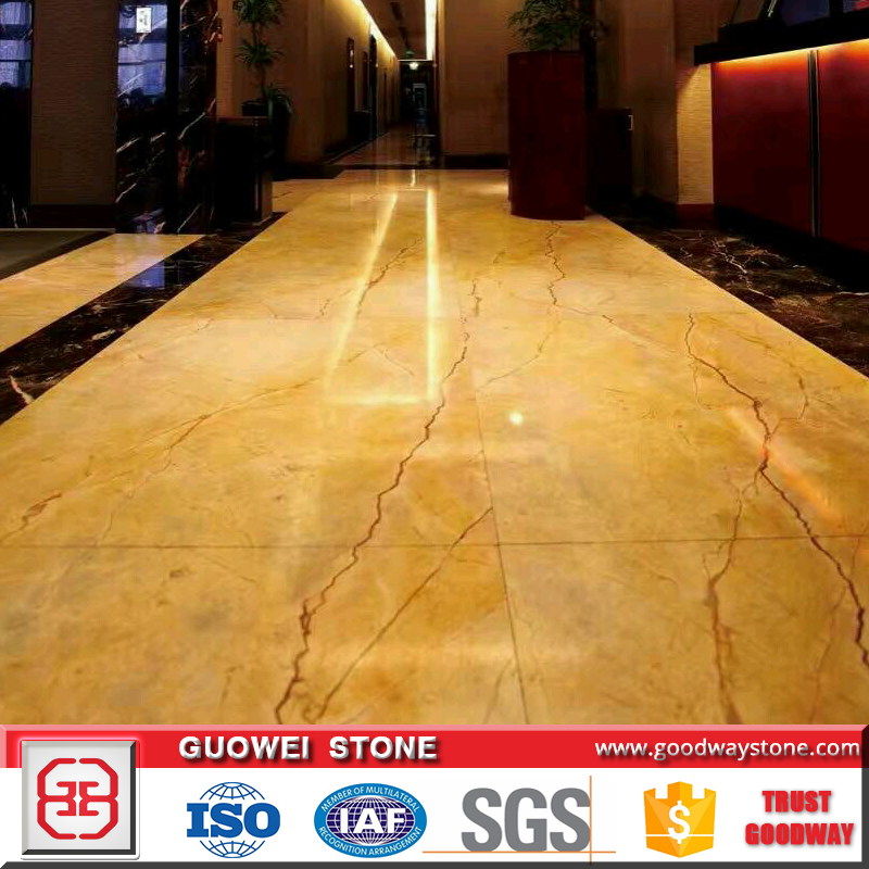 High quality yellow stone marble flooring slab and tiles