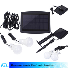 Solar panel 2pcs LED solar light bulbs solar kit home solar system