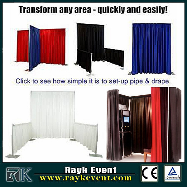 foresight aluminum pipe and drape for portable photo booth frame
