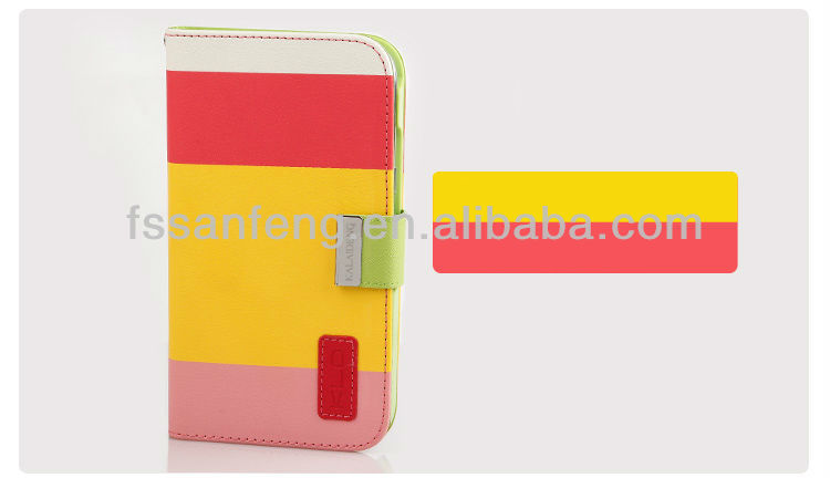new arrival/design fashionable diary leather case cover for SAMSUNG GALAXY NOTE2 N7100; Plain PU Wallet Mobile Case