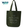 Top quality customized Army green canvas bag cotton eco cotton bag