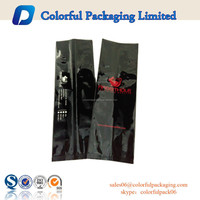 Customized glossy aluminium side gusset coffee tea packaging bags