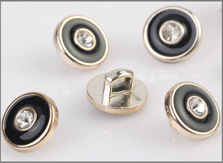 UV Plating Resin Button with Rhinestone BA60086