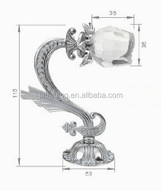 Crystal curtain hook for home decoration,tieback,holdback