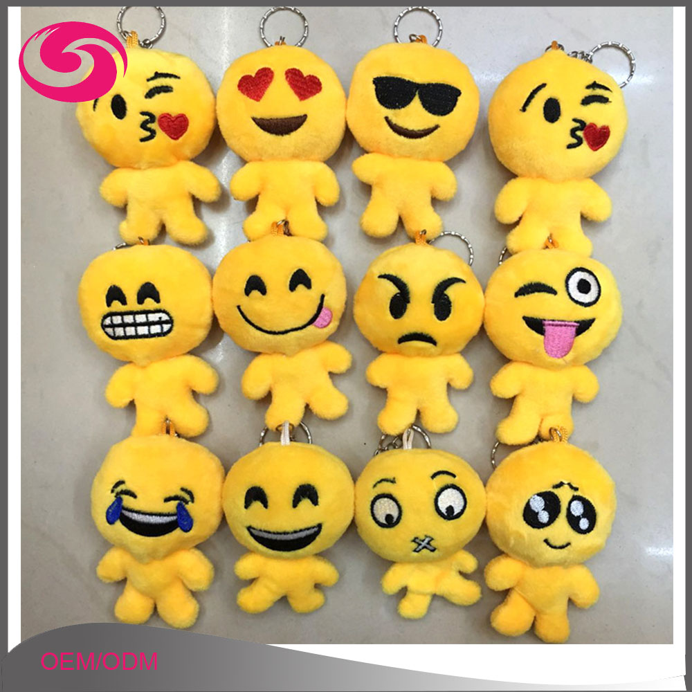 Soft Stuffed Plush Keyring Cute Human Shape Keychain Emoji