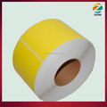 yellow thermal label roll