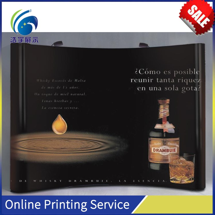 Magnetic Exhibition Booth PVC graphic back Panel Pop Up Display