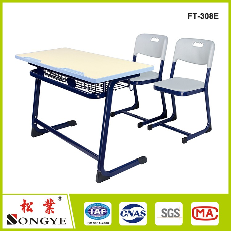 Wholesale school furniture folding desk and chair on floor