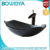 Factory Direct Supply 100% Hand Painted Black Color Fiber Glass Sink