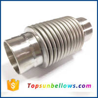Exhaust pipe metal expansion joint flexible stainless steel bellow hose