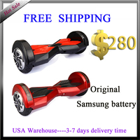 US warehouse 3 days delivery time electric scooter 8 inch red black hoverboard smart balance scooter