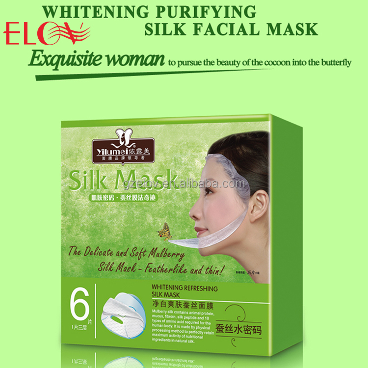 Wholesale Custom Skin Care Tea Tree Extract Sheet Face Mask Popular Style Delicate Soft Whitening Purifying Silk Facial Mask