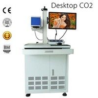 10w/30w/50w co2 laser marking machine for wood, cloth, glass, furniture, leather and plastic bag hot sale