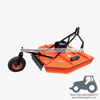 Tractor 3-Point Rotary Cutter Mower 5ft with rear support wheel adjustable