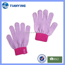 pink acrylic kids magic stretch gloves