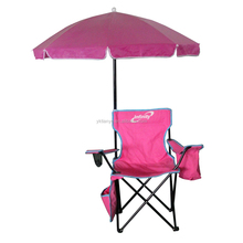 hot sale outdoor cheap metal frame beach folding camping chair wholesale with umbrella
