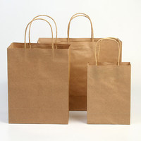 china factory wholesale recycled brown kraft paper bag for shopping food packing