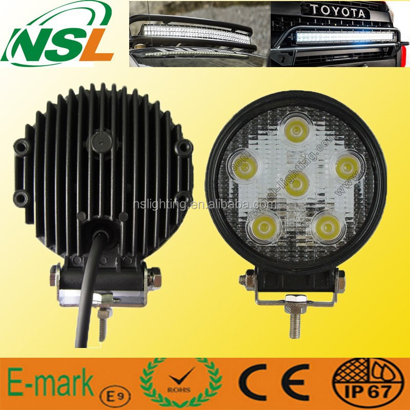 Round 18W LED Work Light 4x4car accessory,boatTruck work light led CE, RoHS, IP67 approved