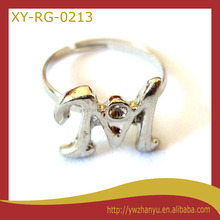 new jewelry English Letters ring