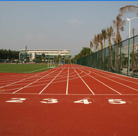 2017 china outdoor Prefabricated rubber running track