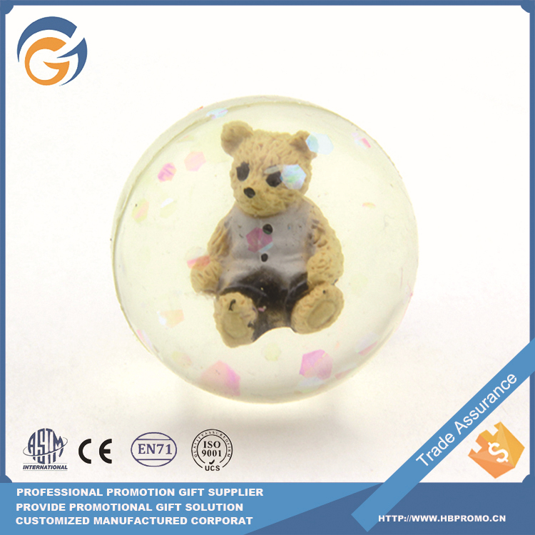 Lovely Bear Transparent Jumping Ball for Kids 45mm