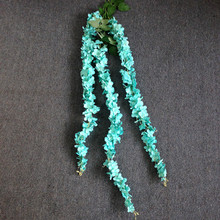 wedding decor hot sale single stem 3 strands silk wisteria