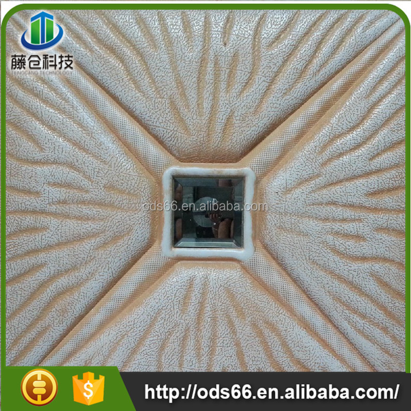 Hubei factory price suspended leather ceiling tiles