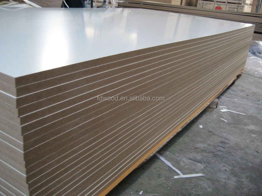 Hot Selling Furniture High glossy white mdf board and melamine mdf in China