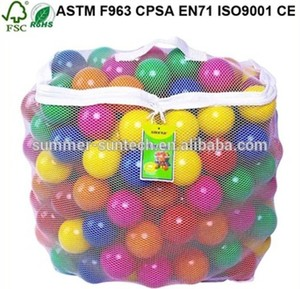 hot selling Colorful soft pit ball,ocean ball,plastic ball color assorted any pack