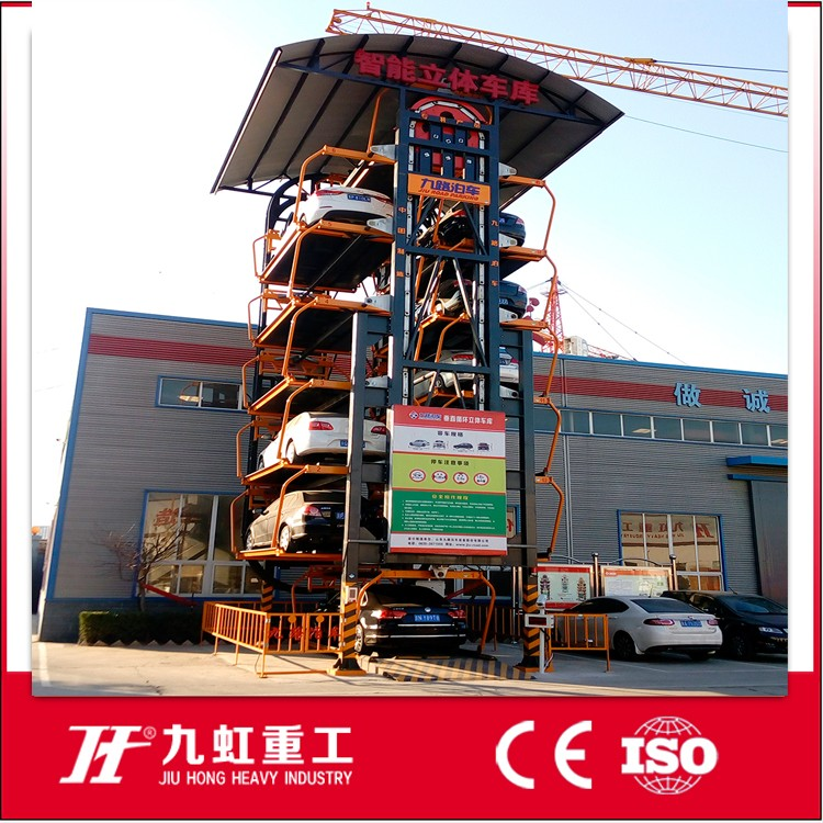 Multi level rotary parking lift stacker parking garage