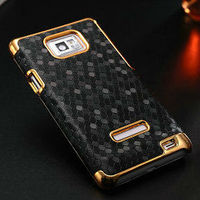 bulk advanced hard plastic case for samsung galaxy s2,diamond pattern hard back cover for samsung galaxy s2