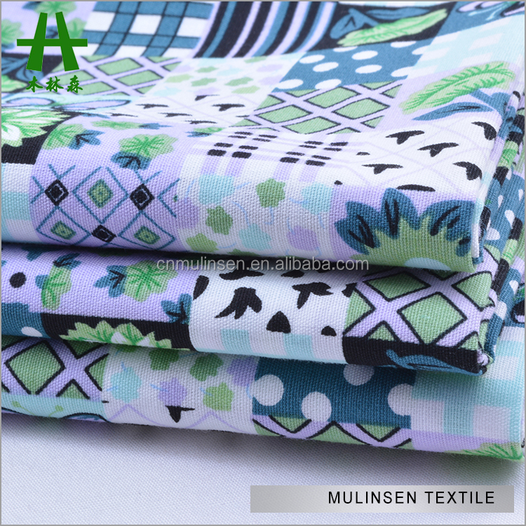 Mulinsen Textile Woven 40s Poplin Top Quality Printed Handkerchief Cotton Fabric